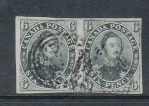 Canada #5 VF Used Pair **With Certificate**