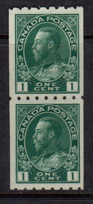 Canada #123 XF/NH Coil Pair **With Certificate**