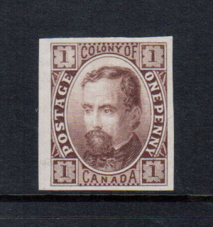 Canada M & P #E-Aa XF Colony Of Canada Plate Essay In Brown On India Paper