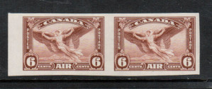 Canada #C5b XF/NH Imperf Pair **With Certificate**