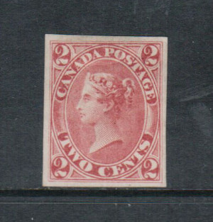 Canada #20b XF Mint Imperf Single **With Certificate**