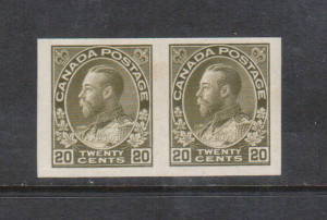 Canada #119a XF/NH Imperf Pair **With Certificate**