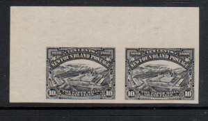Newfoundland #101a XF/NH Imperf Pair **With Certificate**