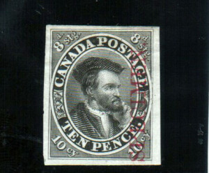 Canada #7Tci XF Plate Proof In Black **With Certificate**