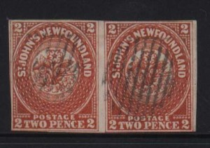 Newfoundland #2 VF Used World Rarity Pair  **With Cert.**