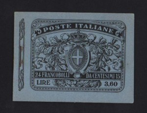 Italy #123c XF Mint Complete Booklet