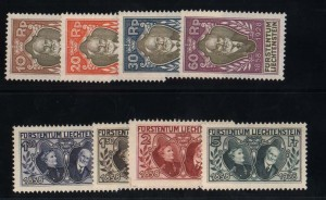 Liechtenstein #82 - #89 VF/NH Set