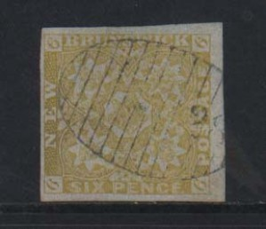 New Brunswick #2 XF Used Gem With Lovely #28 Grid Cancel **With Cert.**