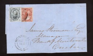 Canada #4 & #5 Used On Cover  **With Certificate**