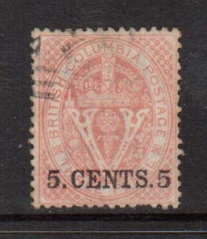 British Columbia #9 VF Used  **With Certificate**