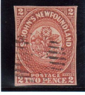 Newfoundland #2 Used Rare Classic **With Certificate**
