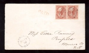 Canada #4xii #4 XF Used Pair On Cover **With Certificate**