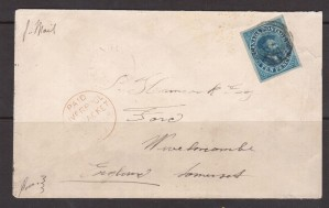 Canada #7 XF Used Gem On Cover To UK **With Certificate**