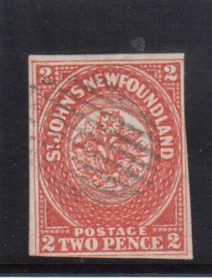 Newfoundland #2i Used Line Through 2 Variety **With Certificate**