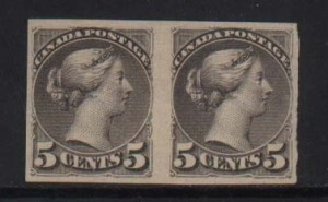 Canada #42a XF Mint Unused Imperf Pair  **With Certificate**