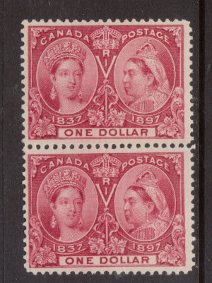 Canada #61 VF Mint Pair **With Certificate**