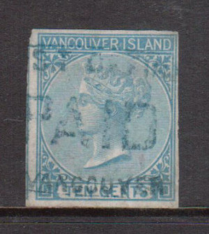 British Columbia #4 Used With Ideal Paid Cancel **With Certificate**