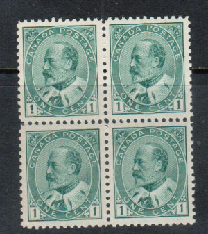 Canada #89 XF/NH Block **With Certificate**