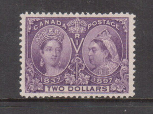 Canada #62 XF/NH **With Certificate**