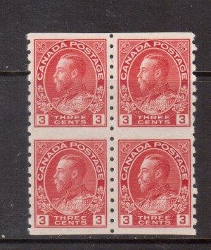 Canada #130a XF/NH Block **With Certificate**