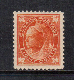 Canada #72 VF+/NH **With Certificate**