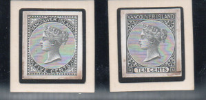 British Columbia #3DP & #4DP VF Die Proofs In Black **With Cert.**