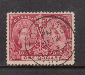 Canada #61 VF Used With Ideal S.O.N. June 12 1899 Circular Date Postmark **With Cert.**