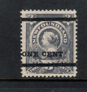 Newfoundland #75 XF/NH **With Certificate**