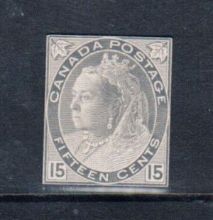 Canada M&P #E-2 15cent Die Essay In Stamp Size **With Certificate**