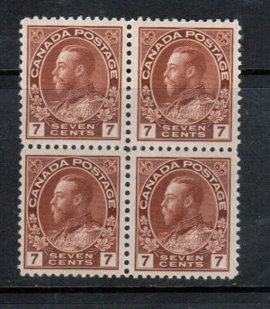 Canada #114iii VF Mint Block **With Certificate**