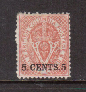 British Columbia #14 VF Mint **With Certificate**