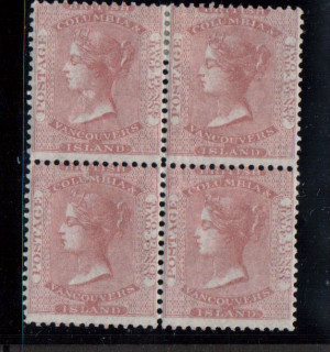 British Columbia #2 Mint Block **With Certificate**