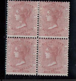 British Columbia #2 Mint Block **With Certificate**