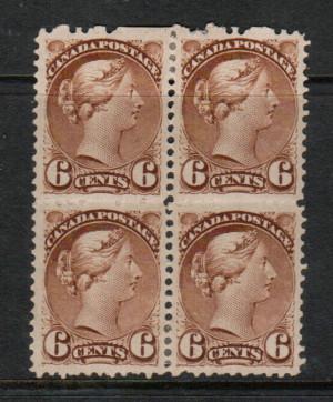 Canada #39b VF Mint Block **With Certificate**