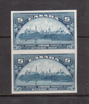 Canada #202a XF/NH Imperforate Pair **With Certificate**