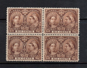 Canada #55 XF/NH Gem Block **With Certificate**