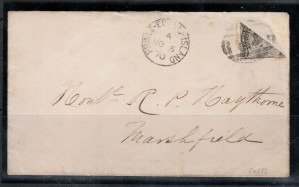 Prince Edward Island #9c Used Rare Bisect On Cover **With Certificate**