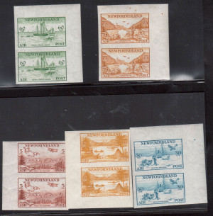 Newfoundland #C13a - #C17a XF Mint Imperforate Set