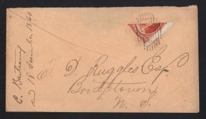 Nova Scotia #12b Bisect Imprint Copy On Ruggles Correspondence