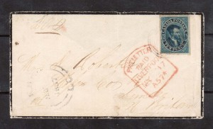 Canada #7 XF Used Gem On Tombstone Mourning Cover **With Cert.**