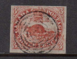 Canada #1 VF Used With Gorgeous Color & Four Margins **With Cert.**