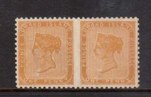 Prince Edward Island #4iv XF/NH Imperf Pair **With Certificate**
