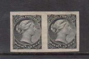 Canada #34a XF Mint Imperf Pair **With Certificate**