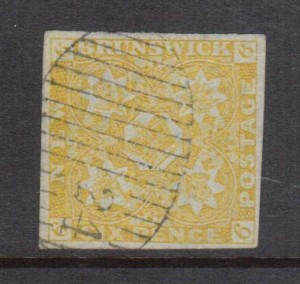 "New Brunswick #2 XF Used Gem With Ideal ""24"" Numeral Grid Cancel *Cert.*"