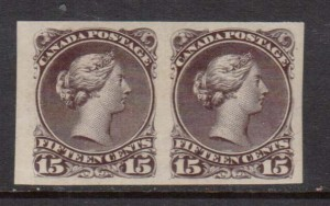 Canada #29d XF/NH Imperf Pair **With Cert.**