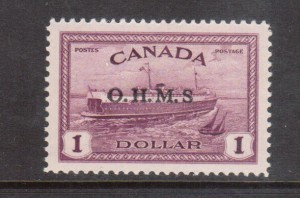 Canada #O10a XF/NH Missing Period Variety **With Certificate**