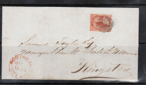 Canada #1 XF Used Cover From Montreal **With Certificate**