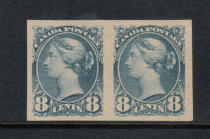 Canada #44d VF Mint Imperforate Pair **With Certificate**