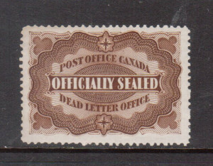 Canada #OX1 VF/NH Light Natural Diagonal Gum Bend **With Certificate**