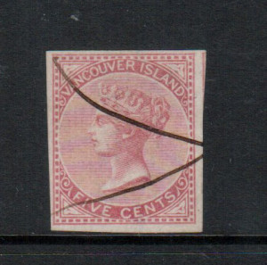 British Columbia #3 VF Used **With Certificate**